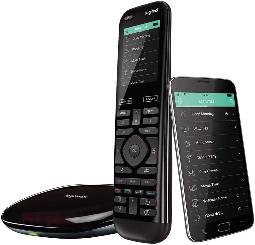Logitech Harmony Elite Control Remoto a Distancia Universal, SKY, Apple TV, Roku, Sonos y Smart Home, Fácil Configuración, App y Hub, LG/Samsung/Sony/Hisense/Xbox/PS4, Negro