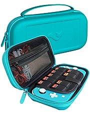 ButterFox Elite - Funda de Transporte para Nintendo Switch Lite con 9 Juegos y 2 Soportes para Tarjetas Micro SD, Color Azul Turquesa