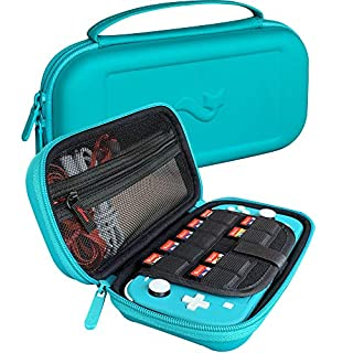 ButterFox Elite Carrying Case for Nintendo Switch Lite, Built-in Stand, Game and Accessories Storage - Turquoise Blue