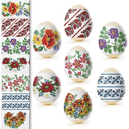 Ukrainian Heat Shrink Wrap Sleeve Decoration Easter Egg Pysanka Set (vyshivanka) -