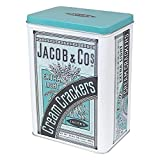 Jacob & Cos Extra Light Cream Crackers Hinged Storage Tin by Half Moon Bay