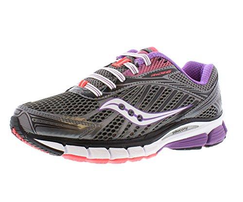 Saucony Women's Ride 6 Running Shoe,Grey/Purple/Vizipro C...