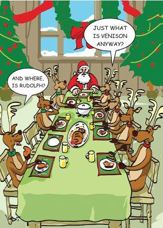Eating Rudolph Christmas Card