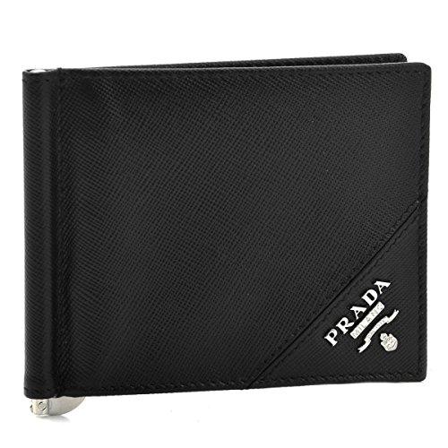PRADA(プラダ) 財布 メンズ サフィアーノメタル 2つ折り財布 ブラック 2MN077-QME-002 [並行輸入品] B016JQPL6Q