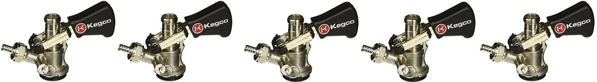 Kegco KC KTS97D-W D System Keg Tap with Black Lever Click Handle, Stainless Steel KC KTS97D-W