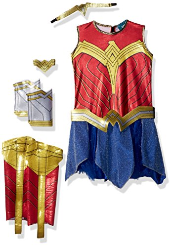 Wonder+Woman Products : Rubie's Costume Girls Justice League Deluxe Wonder Costume, Small, Multicolor