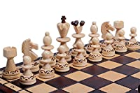 The Caliph - Unique Wood Chess Set, Chess Board & Chess Piece Storage