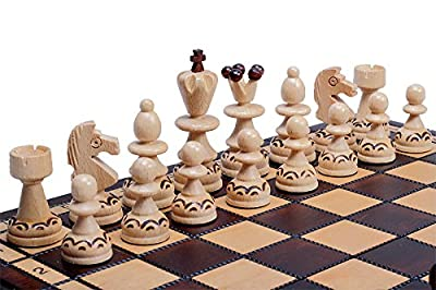 The Rakh Chess Set, Handmade Wooden Chess Pieces, Chess Board & Chess Piece Storage Board Game, ChessCentral's Carpathian Collection