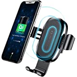 Wireless Car Charger Mount, Baseus Gravity Car Mount Air Vent Phone Holder, 10W Charge for Samsung Galaxy S8 S7/S7 Edge, Note 8 5, Standard Charge for iPhone X, 8/8 Plus and Qi Enabled Devices