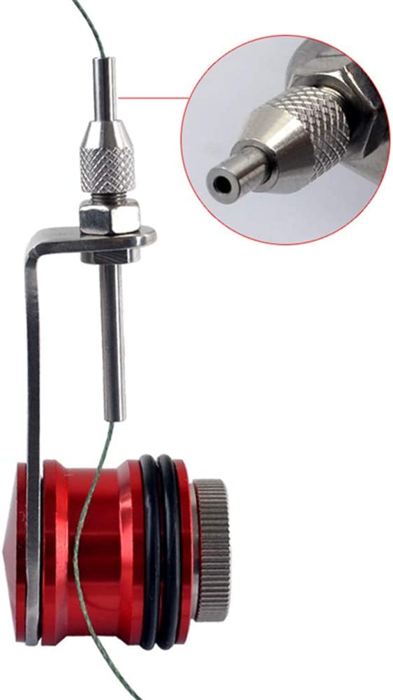 Leezo Fishing Bobbin Knotter FG GT RP Line Wire Knotting Tool Cable Connector Fishing Line Winder Assist Knotting Machine Fishing Line Spooling Accessories