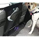 Dog Car Barrier Seat Mesh Obstacle, Universal Stretchy Backseat Barrier Net, Disturb Stopper from Children and Pets, Easy to Install for All Vehicles