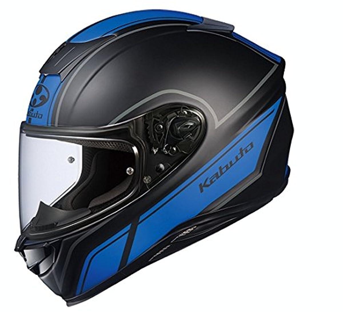 [해외] OG K (카부)카브도(OGK KABUTO)오토바이 헬멧 풀 페이스 AEROBLADE5 SMART(스마트) 플랫 블랙 블루 (사이즈:L) 575373
