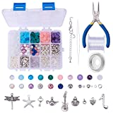 SUNNYCLUE 1 Box 650+ pcs Luxury Jewelry Making Kits Beaded Charm Bracelet Necklace DIY Craft Beading Starter Kits Finding Tools for Teen Girls Adults Women Friendship