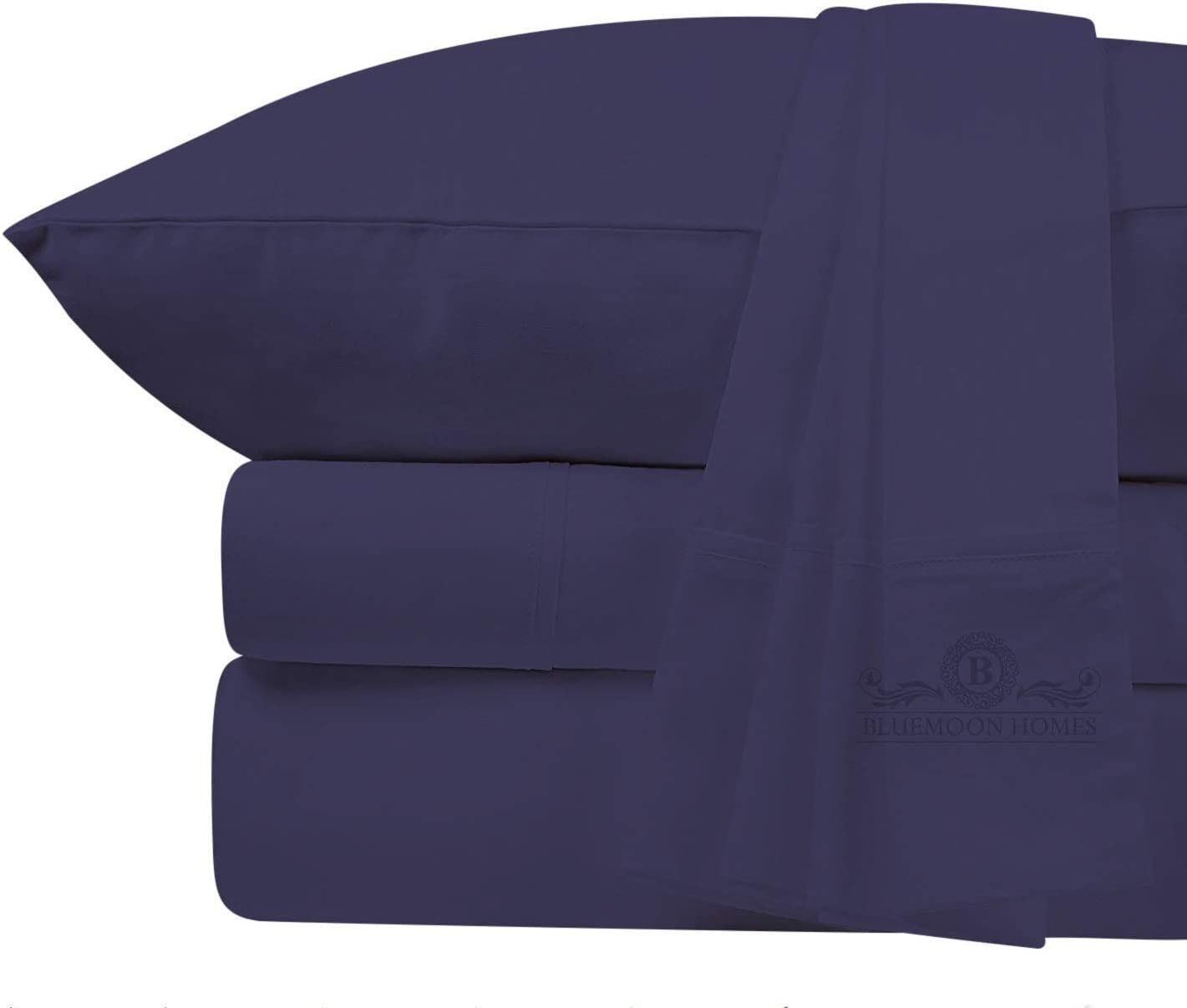 800-Thread-Count Best 100% Egyptian Cotton Bed Sheet Set - Extra Long-Staple Cotton Queen Sheet for Bed, Fits Mattress Upto 18'' Deep Pocket, Breathable & Sateen Weave 4-Piece Sheets Set(Queen, Plum)