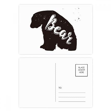 DIYthinker Oso polar y Gracias tarjeta blanca Animal ...