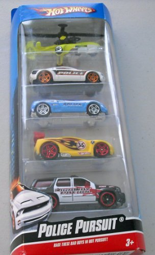 (Hot Wheels Police Pursuit 5 Car Pack )