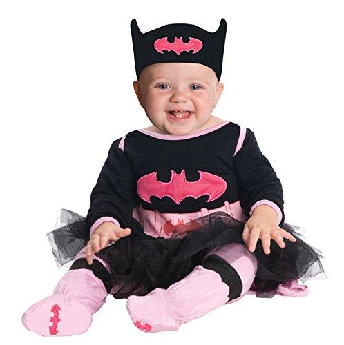 DC Comics Batgirl Onesie And Headpiece, Gray, 0-6 Months