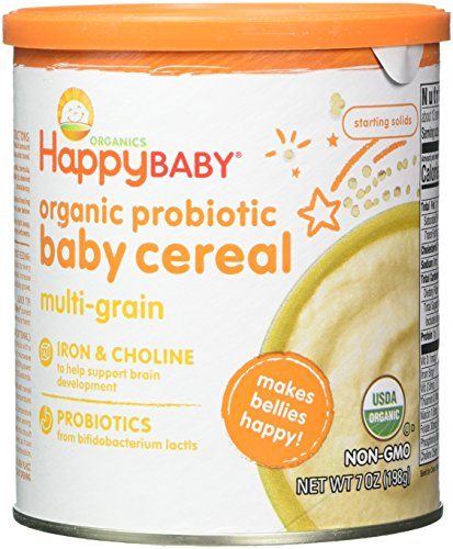 Happy Baby Clearly Crafted Cereal Organic Whole Grains, Oats and Quinoa, 7 Ounce (Pack of 6)