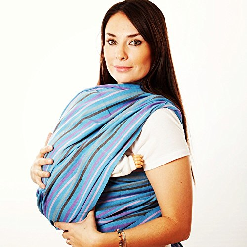 Woven Wrap Baby Carrier for Infants and Toddlers (Ocean)