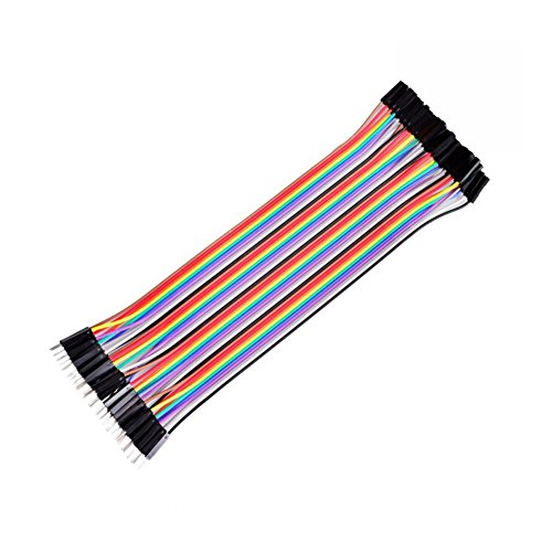CHENBO(TM) 40pcs 20cm female to male jumper wire Dupont cable for Arduino Breadboard