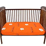 College Covers CLECSFSPR Clemson Tigers Fitted Crib Sheets, 28'' x 52'' x 6'', Team Color