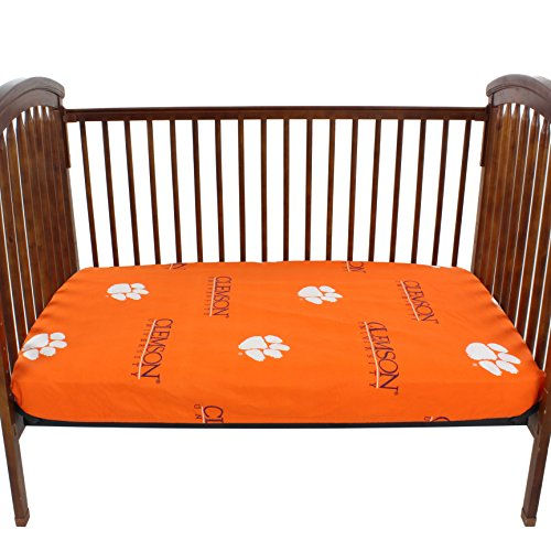 - College Covers Clemson Tigers Fitted Crib Sheets 28