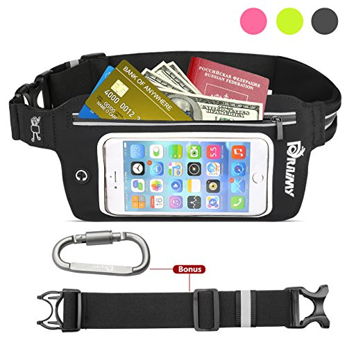 Adjustable Running Belt-Waterproof Fanny Pack with Touch Screen, Waist Bag Fits iPhone 6S,7,7 plus, Samsung Galaxy S8 ,S8+, Perfect for Hiking, Running, rock Climbing,Fitness,travel