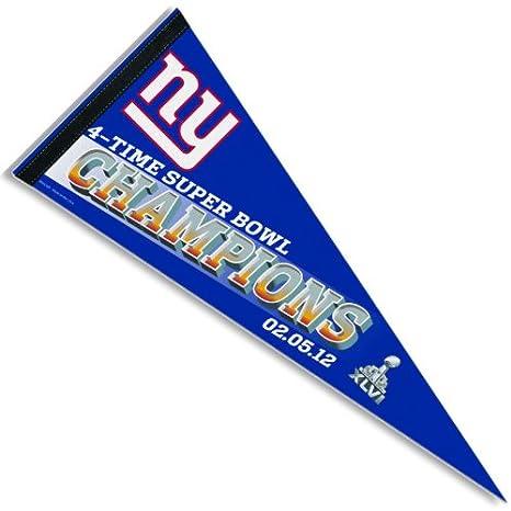 89201c6a New York Giants FOOTBALL SUPER BOWL XLVI PENNANT NFL Team Pennant Gifts &  Decor