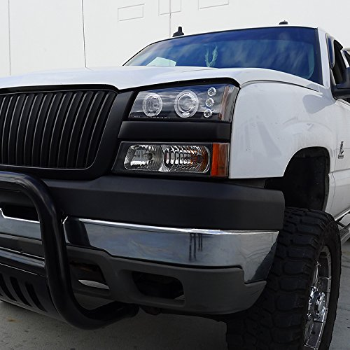 Spec-D Tuning 2LHP-SIV03JM-TM Chevy Silverado Avalanche Black Halo Led Projector Headlights by Spec-D Tuning