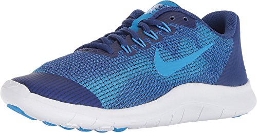 Nike Kid's Flex 2018 RN (GS) Running Shoes (6 Big Kid M, Deep Royal Blue/Blue Hero)