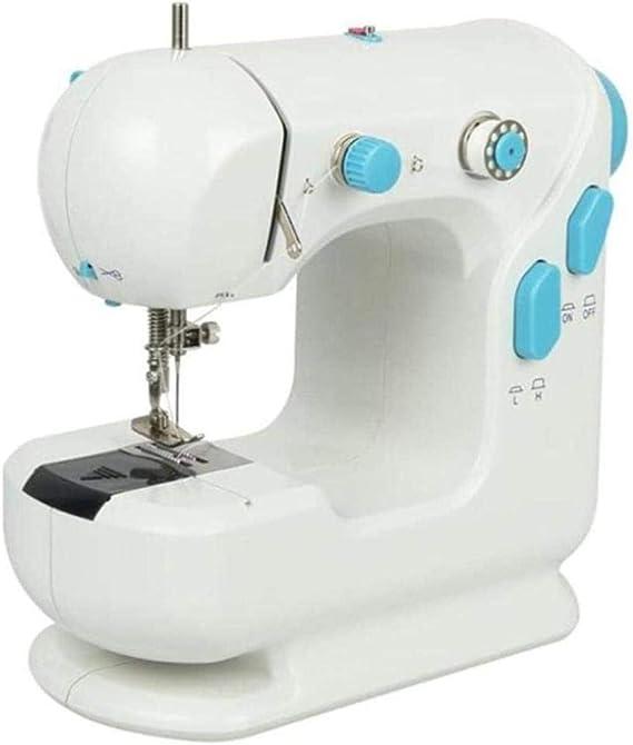 Bolsa de costura Mini máquina de coser for principiantes, portátil Pedal eléctrica de múltiples funciones del pie, adultos de los niños, la máscara de bricolaje ...