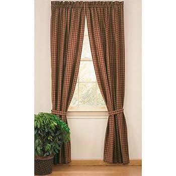 This Item Sturbridge Country Wine Panel Curtains 72x63