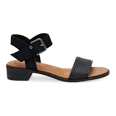 c85156a7924a TOMS Women s Camilia Black Leather Suede 5 ...
