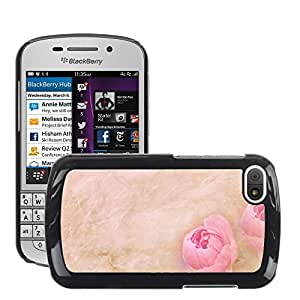 Etui Housse Coque de Protection Cover Rigide pour // M00150120 Papelería flores de papel de fuente de // BlackBerry Q10
