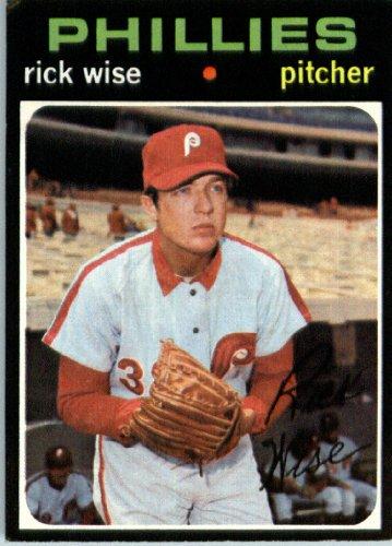 1971 Topps Baseball Card #598 Rick Wise ENCASED