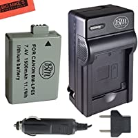 BM Premium LP-E5 Battery and Charger Kit For Canon EOS Rebel XS, Rebel T1i, Rebel XSi, 1000D, 500D, 450D, Kiss X3, Kiss X2, Kiss F Digital SLR Camera