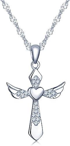 amazon collier argent d'ange