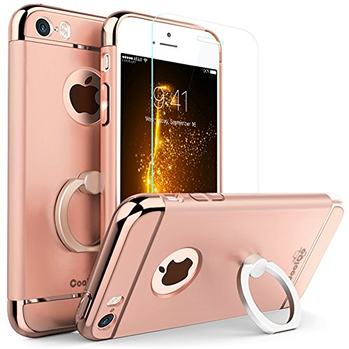 360 Degree Full Plastic Cover Case for Apple iPhone 5 5S (Blue) - 7