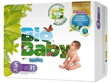 Pañales Bio Baby talla 5 (12-16 kg) 31uds eco