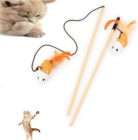 AXX 15 Juguetes de ratón de Pluma de Varita de Gato, Juguetes de burla interactivos retráctiles, Lindo Gato Stick Combo Flexible y Seguro, Adecuado para Jugar con Gatos: Amazon.es: Hogar
