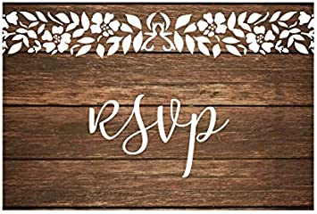 Rustic Blank Response Cards for Wedding 50 RSVP Postcards 4x6 Inches Baby Shower Party RSVP Cards Bridal Shower Birthday