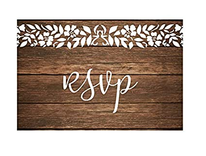 amazon com rsvp cards for wedding invitation 50 4x6 rsvps rustic
