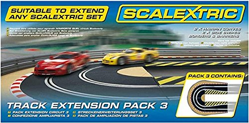Scalextric C8512 Track Extension Pack - 2x Hairpin Curves 2 Side Swipes Borders Barriers
