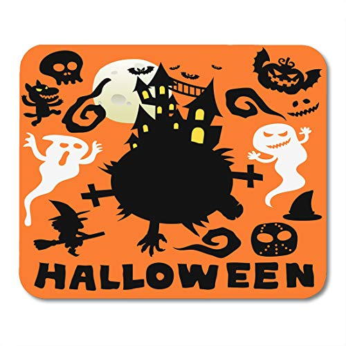 Nakamela Mouse Pads Smile Black Ghost Happy Halloween Cute Cartoon Comic Colorful Autumn Vampire Mouse mats 9.5