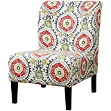 Furniture of America Sindy II Fabric Accent Chair in Orange