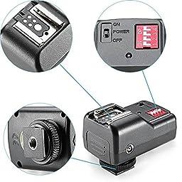 Neewer 16 Channel Wireless Remote FM Flash Speedlite Radio Trigger with 2.5mm PC Receiver for Canon 580EX II 580EX 550EX 540EZ 520EZ 430EX, Nikon SB900 SB800 SB600 SB28, Neewer TT860, TT850, TT560, YN560 III, YN560 II, YN560 I, Olympus, Pentax,Sigma, Sunp