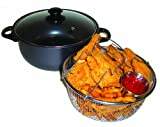 Excelsteel 4 Quart Carbon Steel Non Stick All in One Deep Fryer...