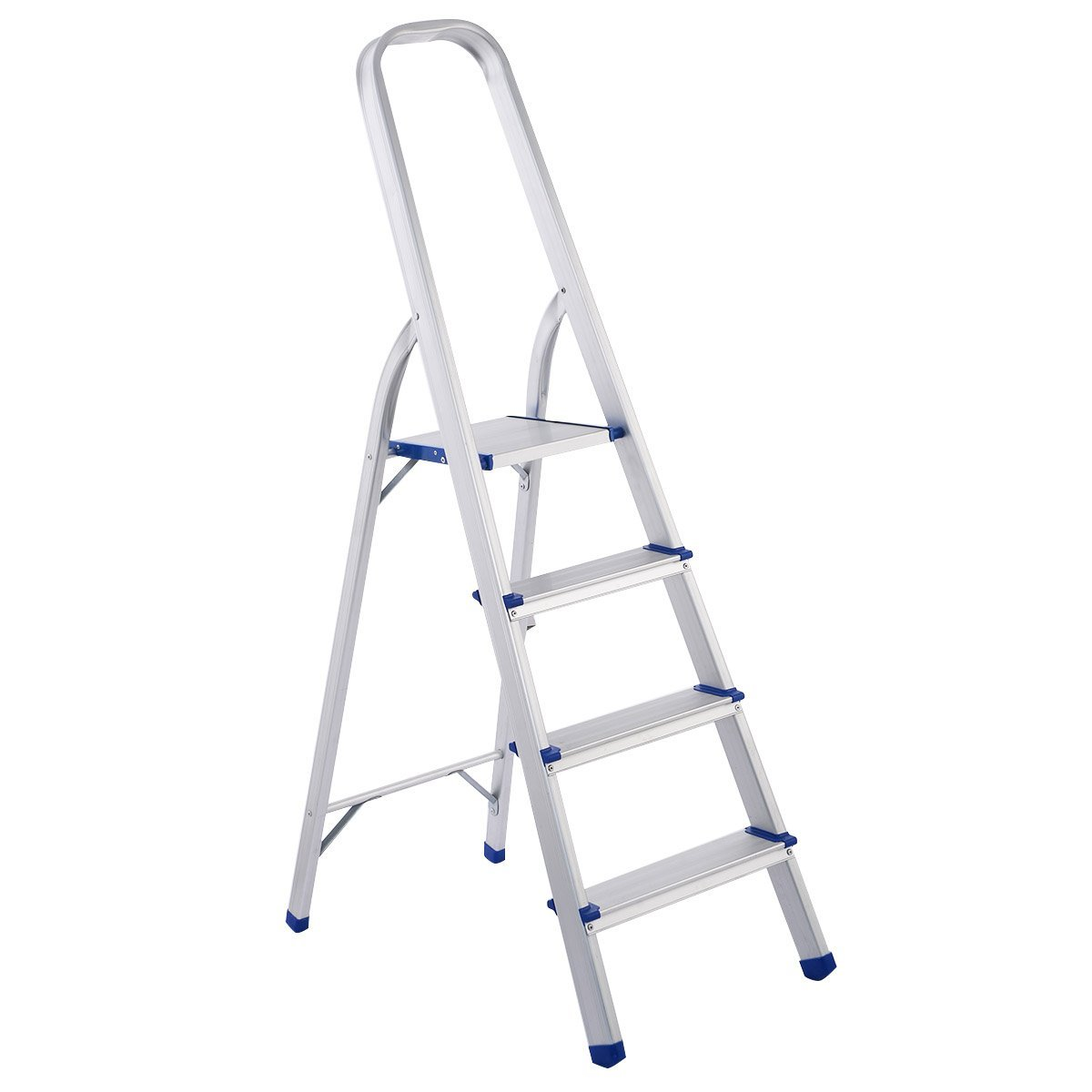 Giantex 4 Step Aluminum Foldable Non-slip Ladder 300lbs Lightweight Home Office Portable