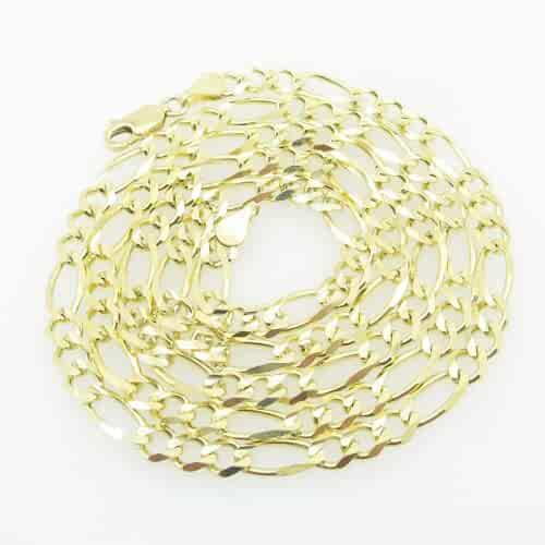 Mens Yellow-Gold Figaro Link Chain Length - 24 inches Width - 4.5mm