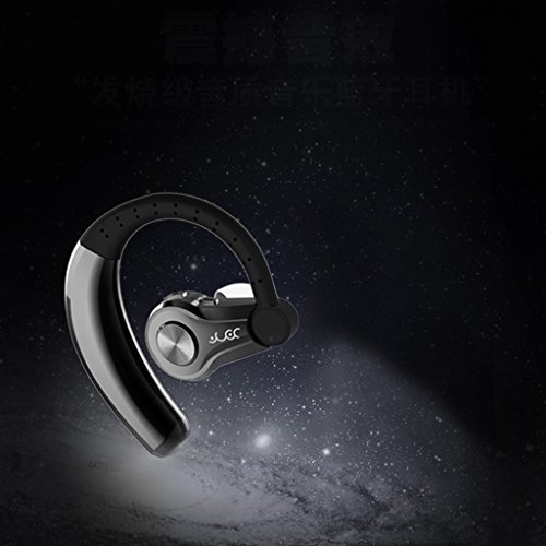 SCASTOE T9 Earbud, Ear Hook Headphone Wireless Bluetooth 4.1 Stereo Earphone with Mic Black